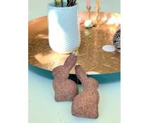 Paashanger | Bronzen glitter Ei of Haas