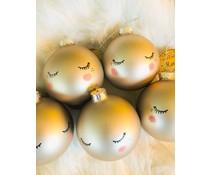 "Lieflijke kerstbal ""sleepy eyes"""