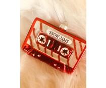 """* UITVERKOCHT * Tof Cassettebandje """"snow jams"""" Kersthanger - Copy"""