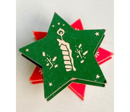 * SOLD * Vintage cadeaulint kerst - 2 stuks