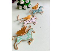 Imbarro Metalen hanger Flying Horse & Reindeer head