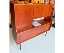 Prachtig vintage dutch/deens design wandkast