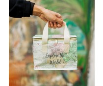 "Fraaie thermo lunch tas ""Explore the World"" 