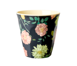 Rice! Melamine beker Dark Rose / Selma's flowers (medium)