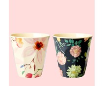 Rice! Melamine beker Dark Rose / Selma's flowers