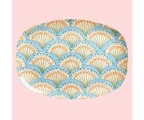 Rice! Melamine plate - Flower Fan | Rectangular