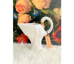 Witte flamingo / swane vaas    Housevitamin