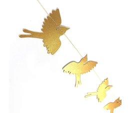 Imbarro Papieren Kerstslinger | Birds confetti gold