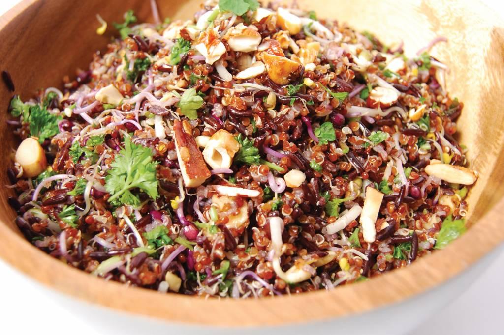 Quinoa en wilde rijstsalade