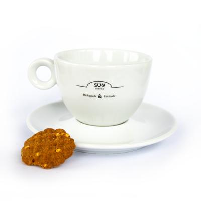 Sun Coffee Cappuccino Tasse und Untertasse Set - 24 Stück