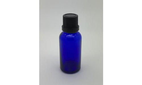 Glazen flesje met druppel dop 30 cc.