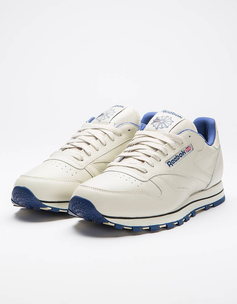 8f3f261382281 Reebok Reebok Cl Leather Ecru Navy - Avenue Store