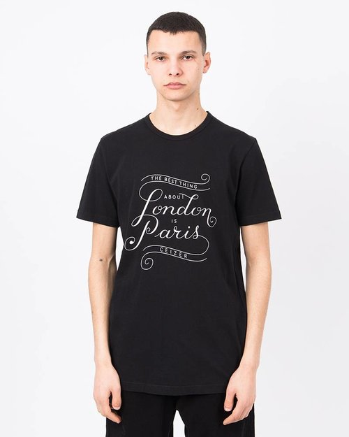 Ceizer Ceizer Londen Paris T-shirt Black