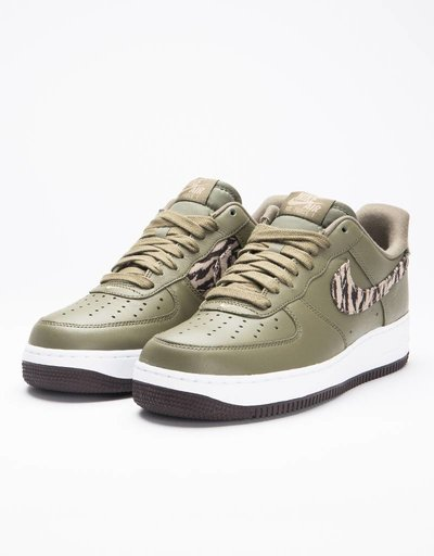 Nike air force 1 aop prm medium olive/khaki-velvet brown-white
