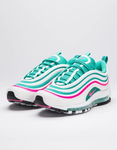 Nike Air Max 97 White/pink blast-kinetic green-black