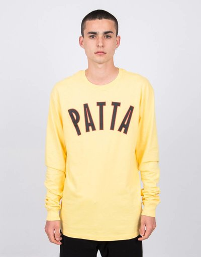 Patta Curve Logo Longsleeve Lemon Drop