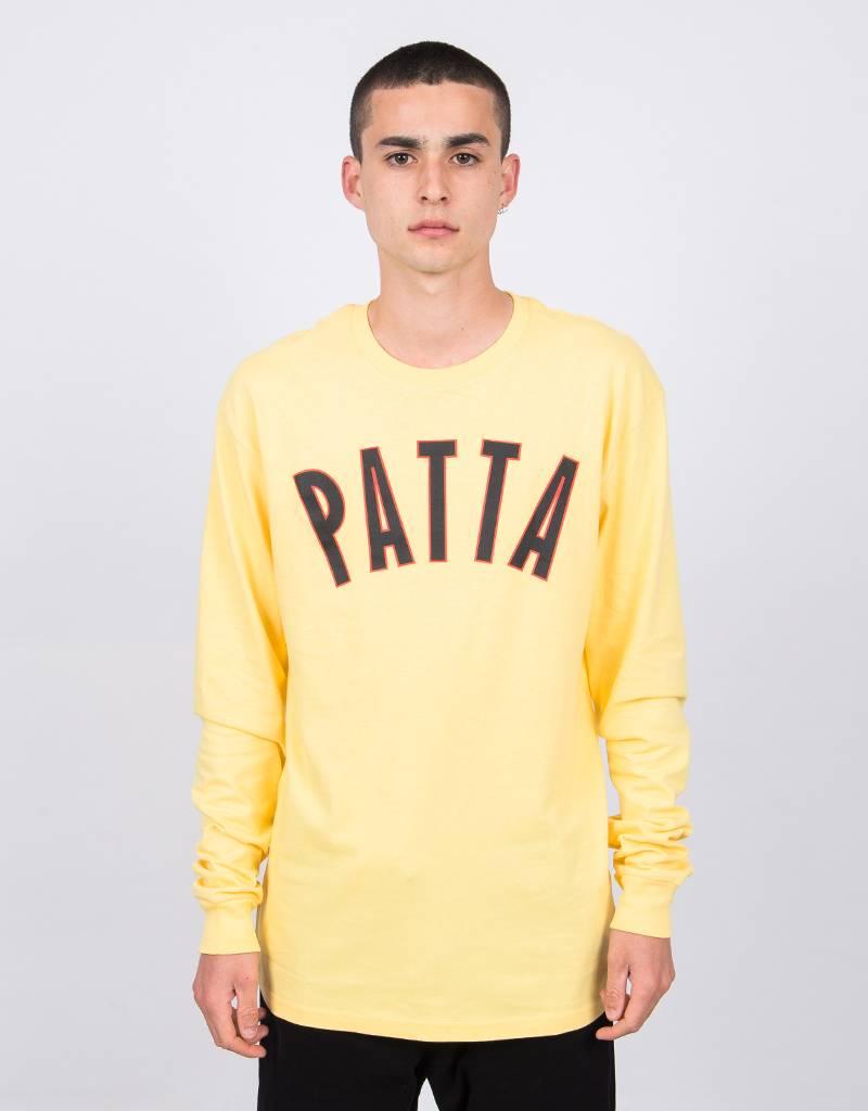 Patta Curve Logo Longsleeve Lemon Drop