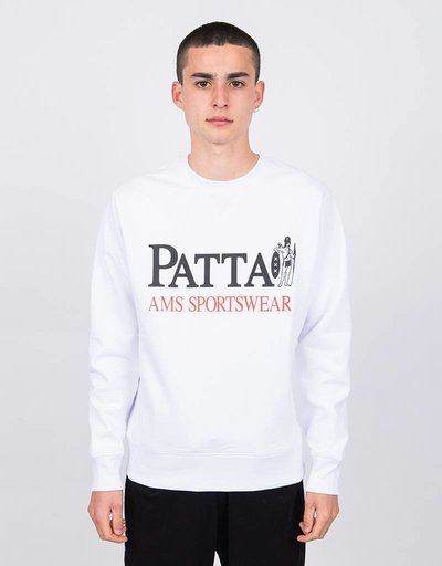 Patta Inji Crewneck Sweater White