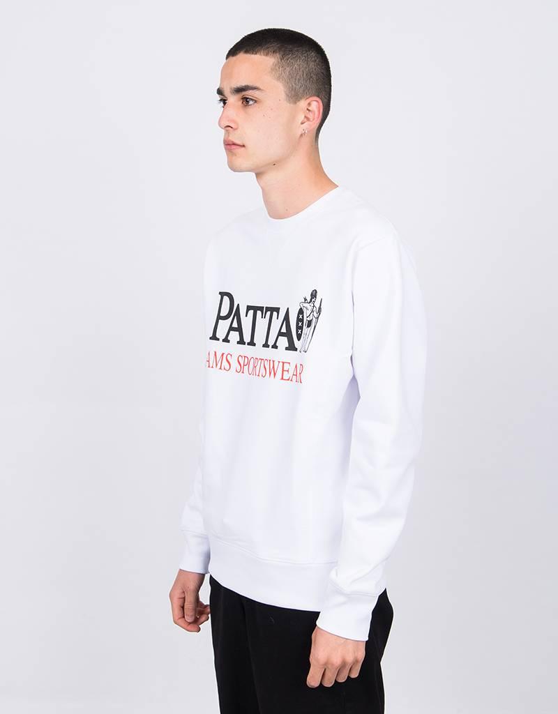 Patta Inji Crewneck Sweater White