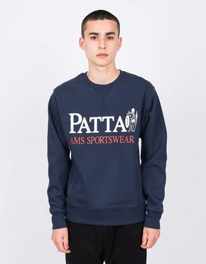 Patta Patta Inji Crewneck Sweater Black Iris