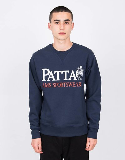 Patta Inji Crewneck Sweater Black Iris