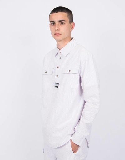 Patta Overhead Shirt Seersucker Lavender