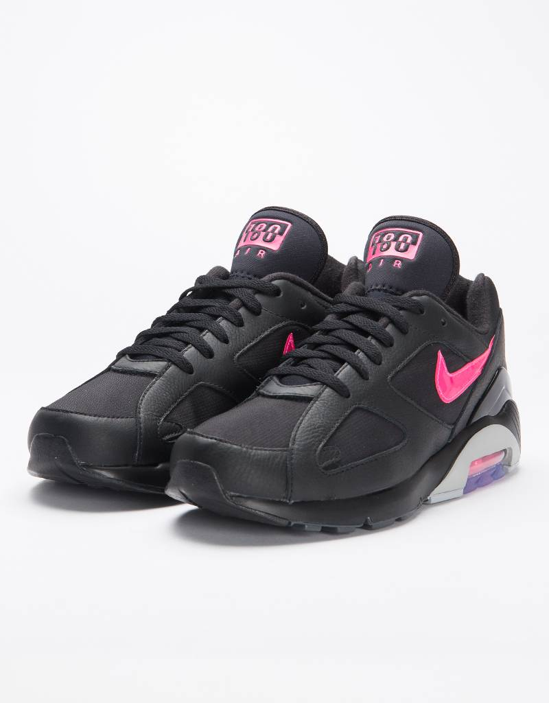 461fb65170f7b Nike Air Max 180 black Pink Blast-Wolf Grey - Avenue Store