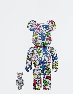 BEARBRICK BE@RBRICK Keith Haring 2-pack 100% + 400%