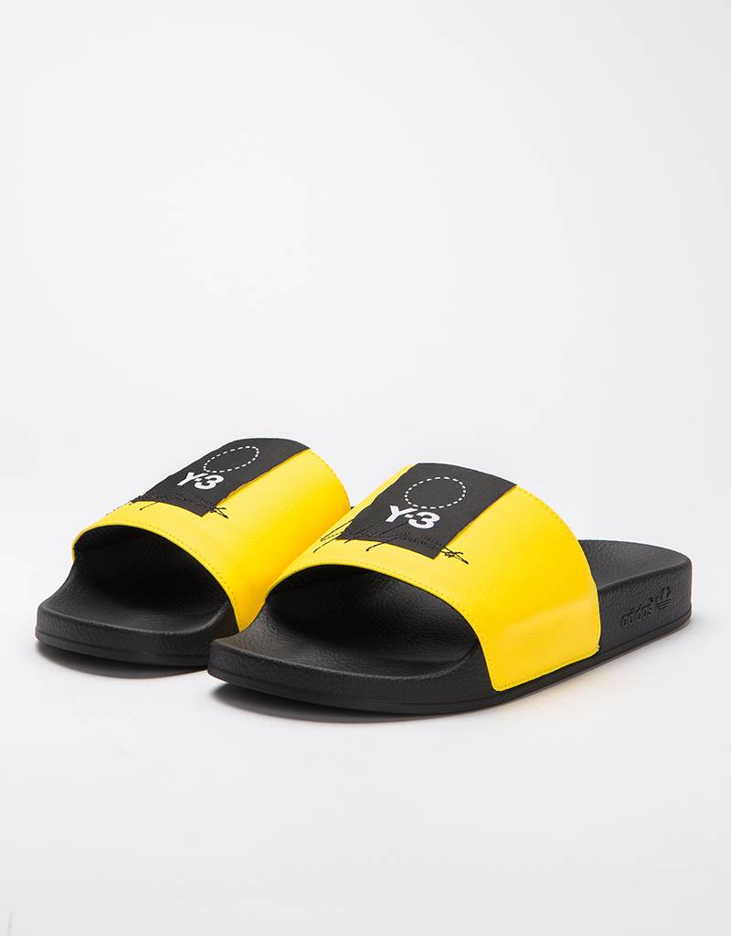 36a50a25333ce0 Adidas Y-3 ADILETTE yellow black yellow - Avenue Store