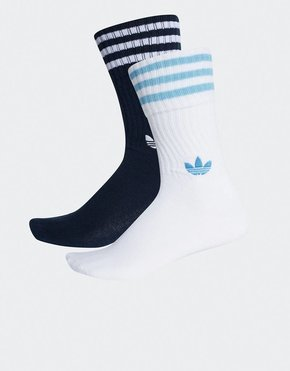 Adidas Adidas 2-pack Solid Crew Socks Navy/White