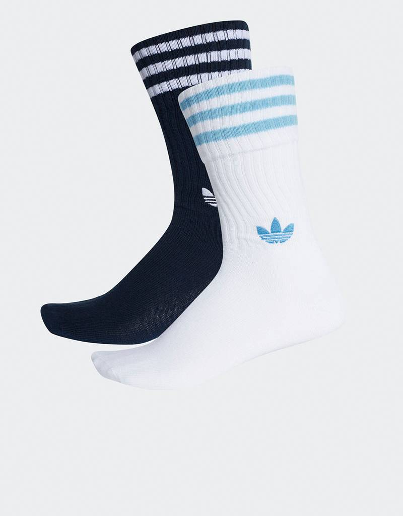 Adidas 2-pack Solid Crew Socks Navy/White