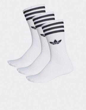 Adidas adidas 3-Pack Solid Crew Socks White/Black