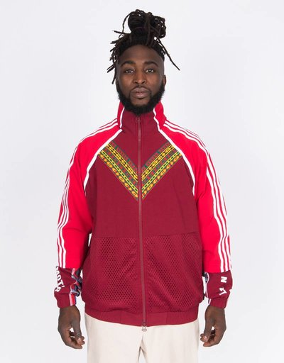 Adidas Afro Hu FZ Jacket White/Multicolor/Collegiate Green