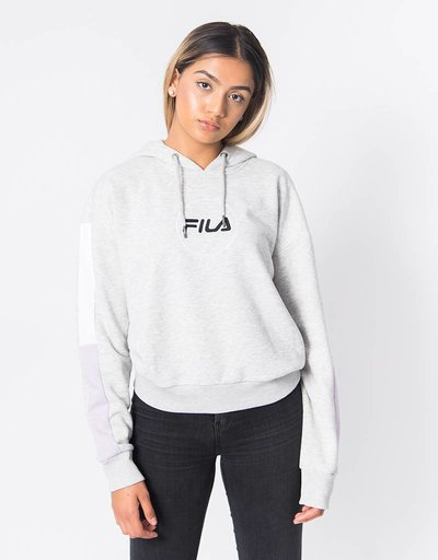 Fila Riva Long Sleeve Hoodie Light Grey Melange Bros