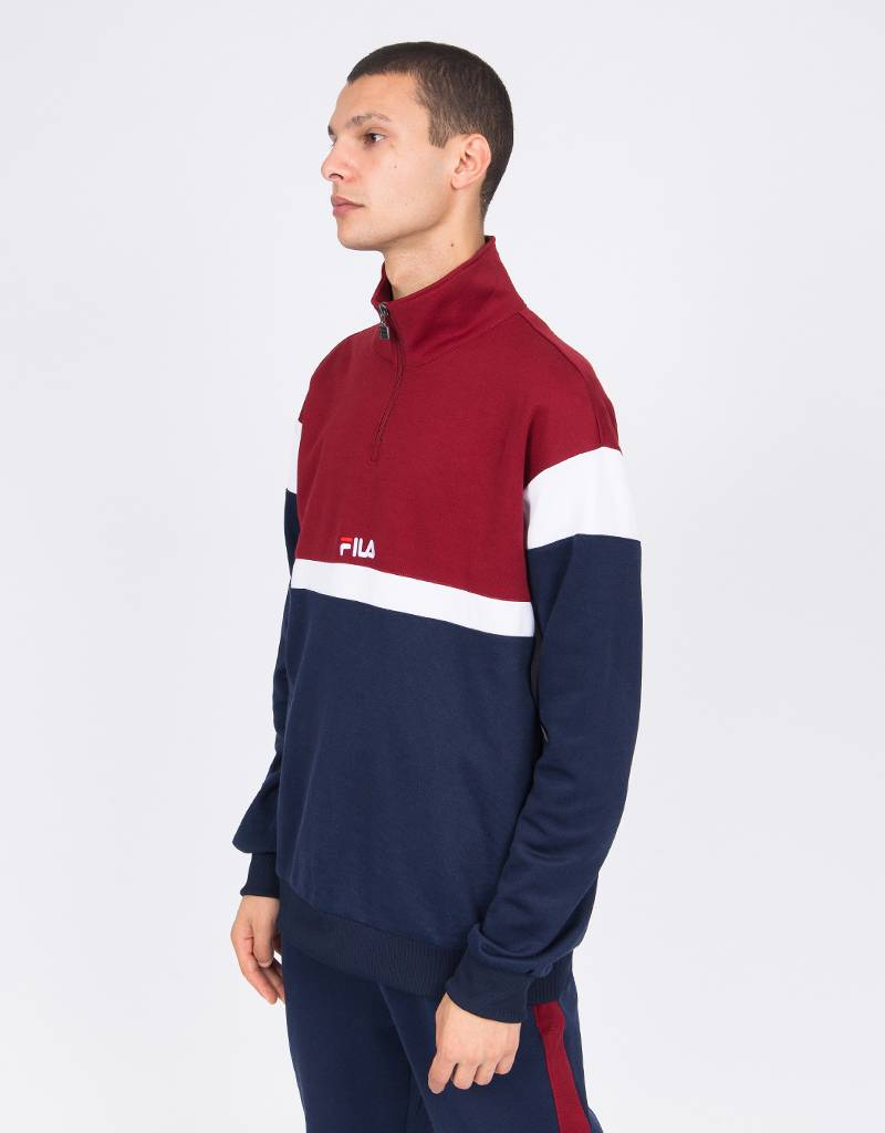 Fila Herron Half Zip Top Black Iris