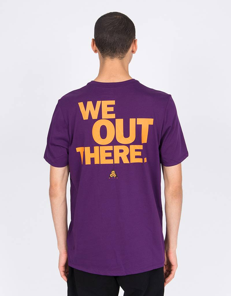 Nike ACG T-Shirt Night Purple/Bright Mandarin