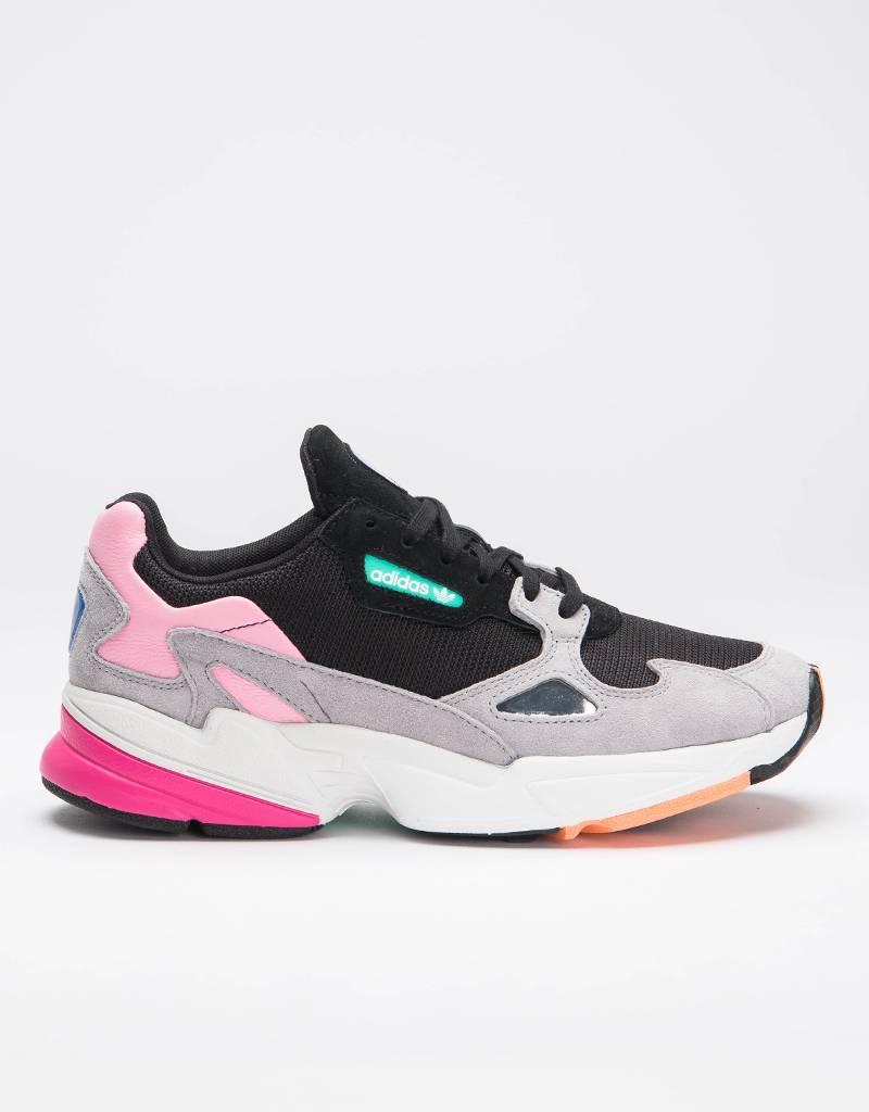 adidas Originals W Falcon OG Black/Light Granite/Pink
