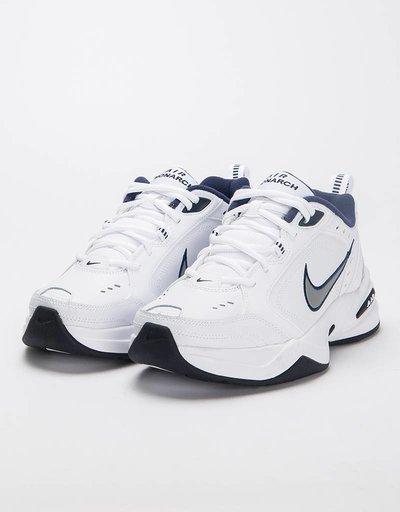 Nike Air Monarch IV White/Metallic Silver
