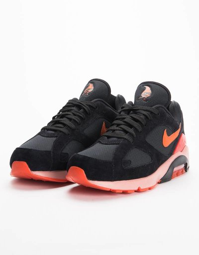 Nike Air Max 180 Black/Team Orange-University Red