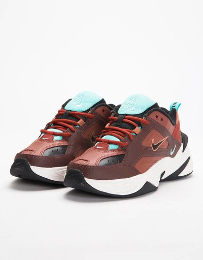 Nike M2K Tekno Mahogany Mink/Black Burnt Orange