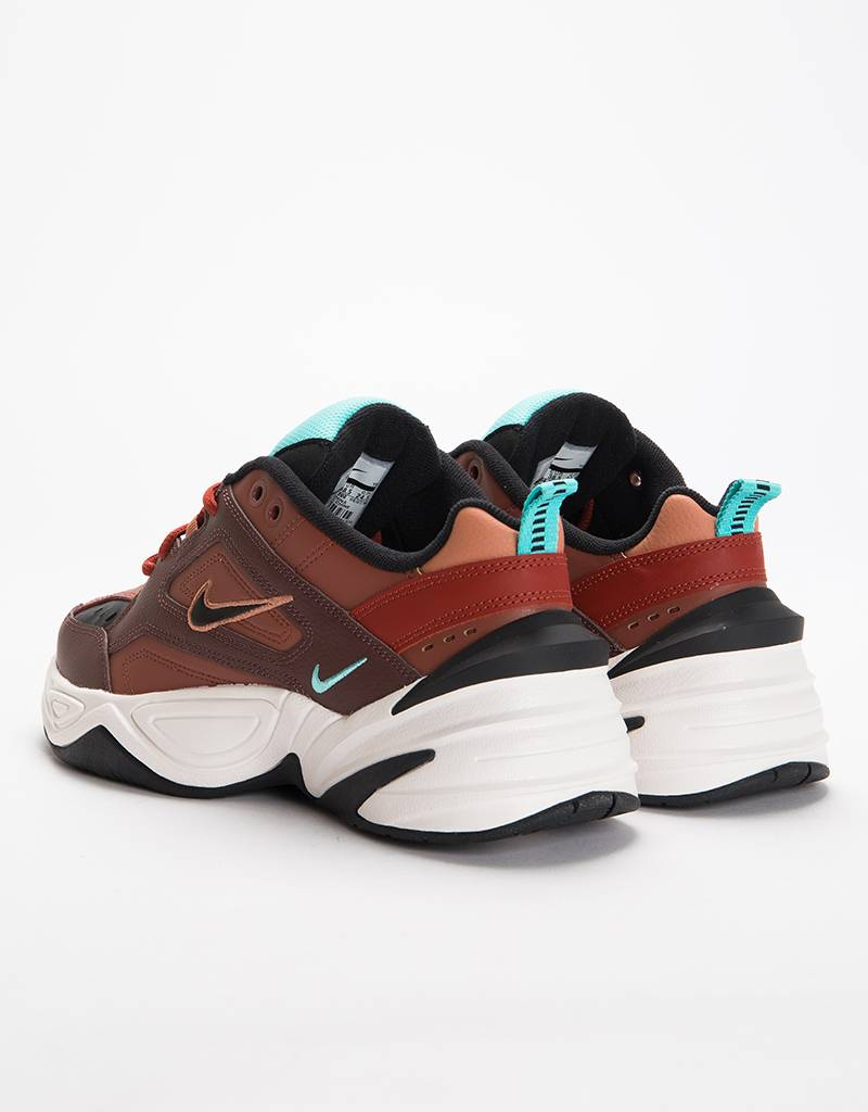Nike M2K Tekno Mahogany Mink/Black Burnt Orange
