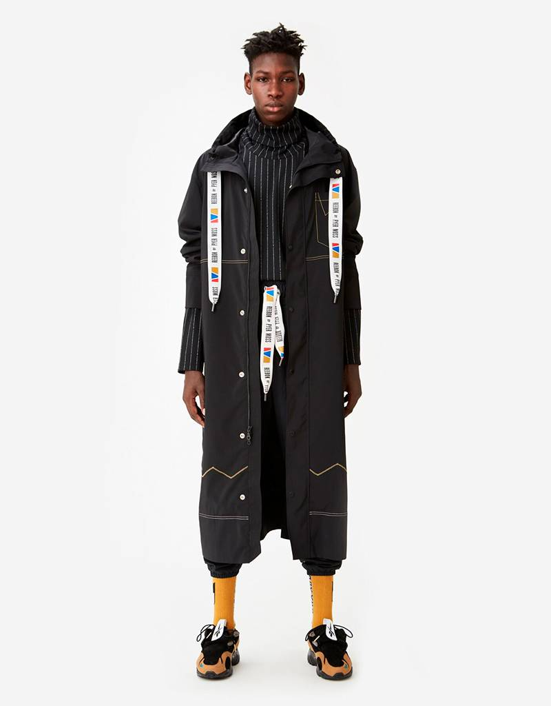 Reebok by Pyer Moss Long Coat Black