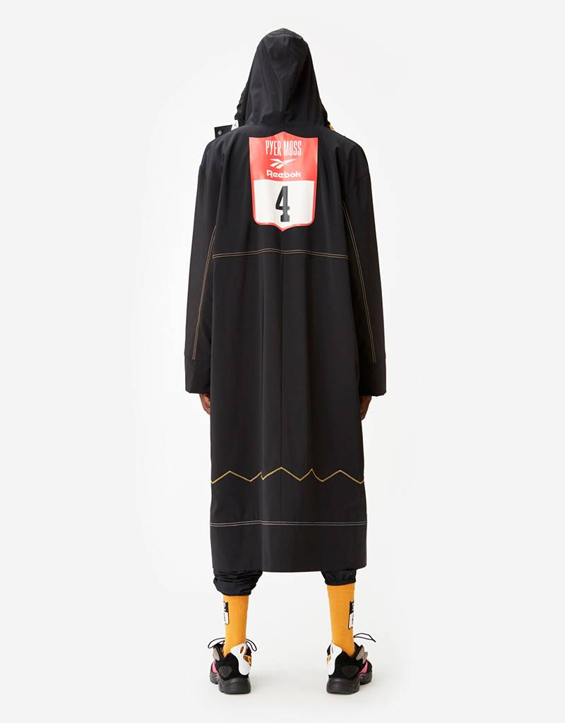 Reebok by Pyer Moss Long Coat Black
