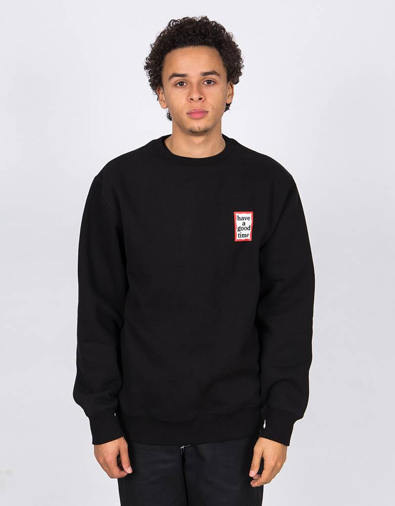 Have A Good Time Mini Frame Crewneck Sweater Black