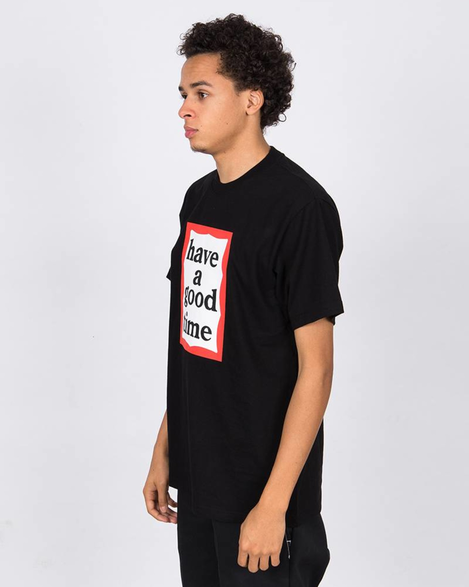 Have A Good Time Frame Shortsleeve Tee Black