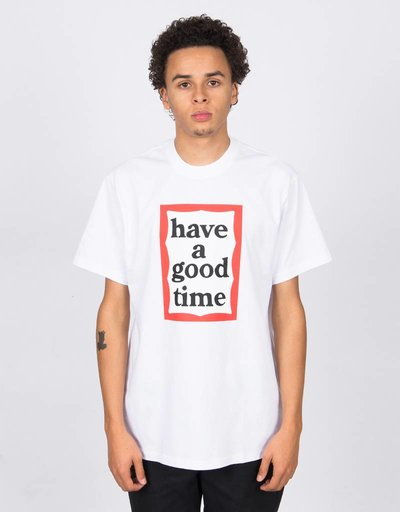 Have A Good Time Frame Shortsleeve Tee White