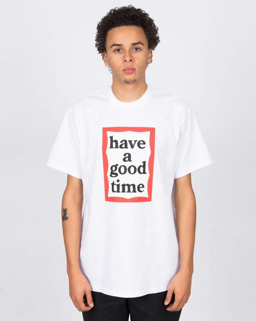 HAVE A GOOD TIME Have A Good Time Frame Shortsleeve Tee White
