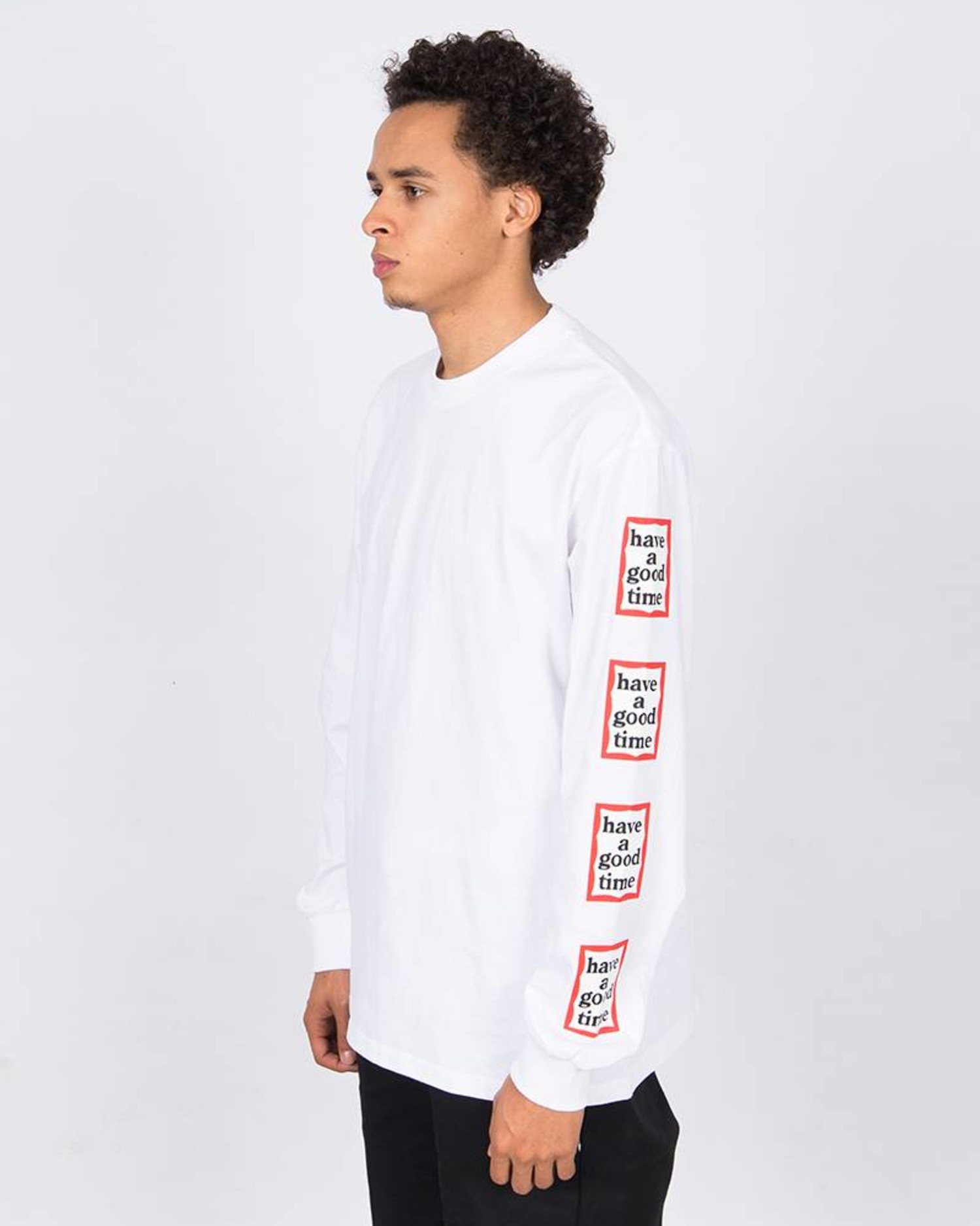 Have A Good Time Arm Frame Longsleeve T-shirt White