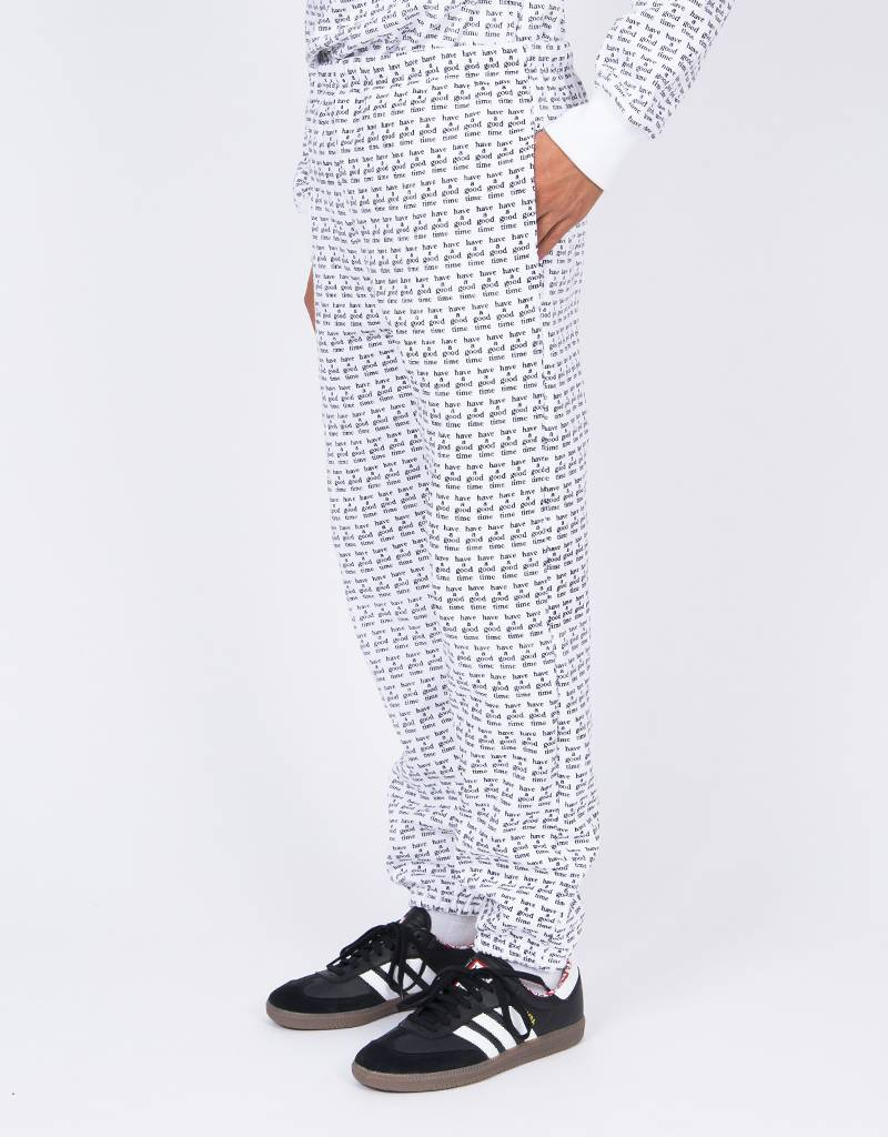 Have A Good Time All Over Sweat Pant White