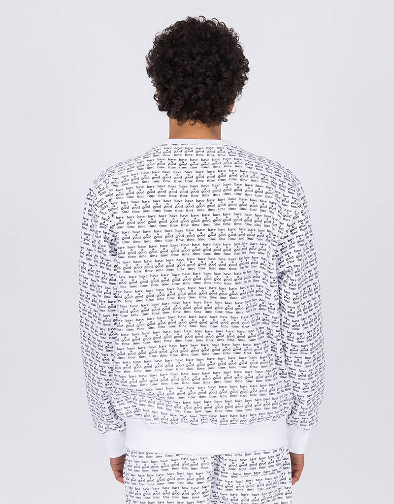 Have A Good Time Logo All Over Crewneck White
